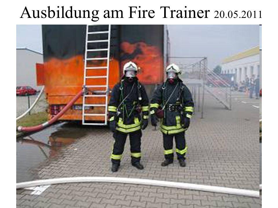 Ausbildung am Fire Trainer 20.05.2011