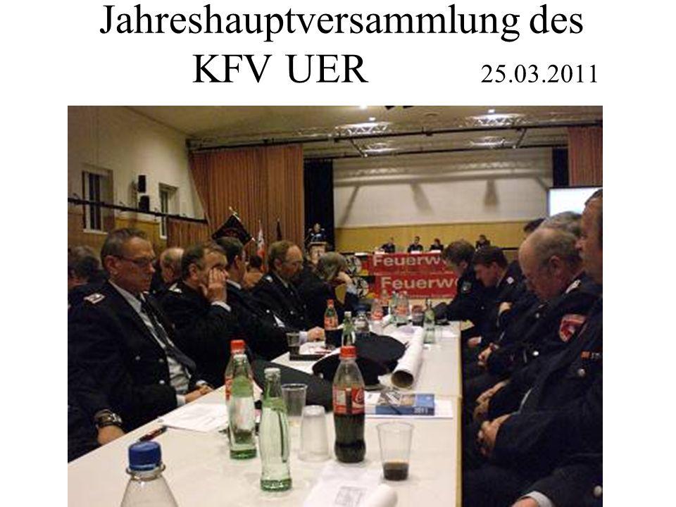 Jahreshauptversammlung des KFV UER 25.03.2011