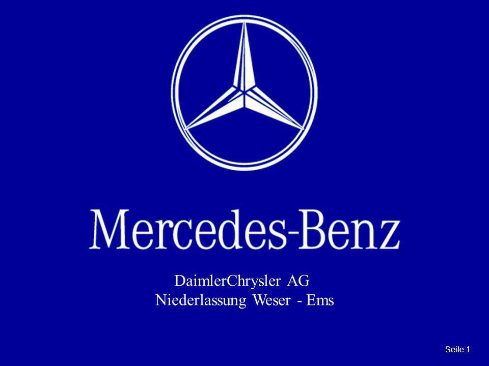 Seite 1 DaimlerChrysler AG Niederlassung Weser - Ems