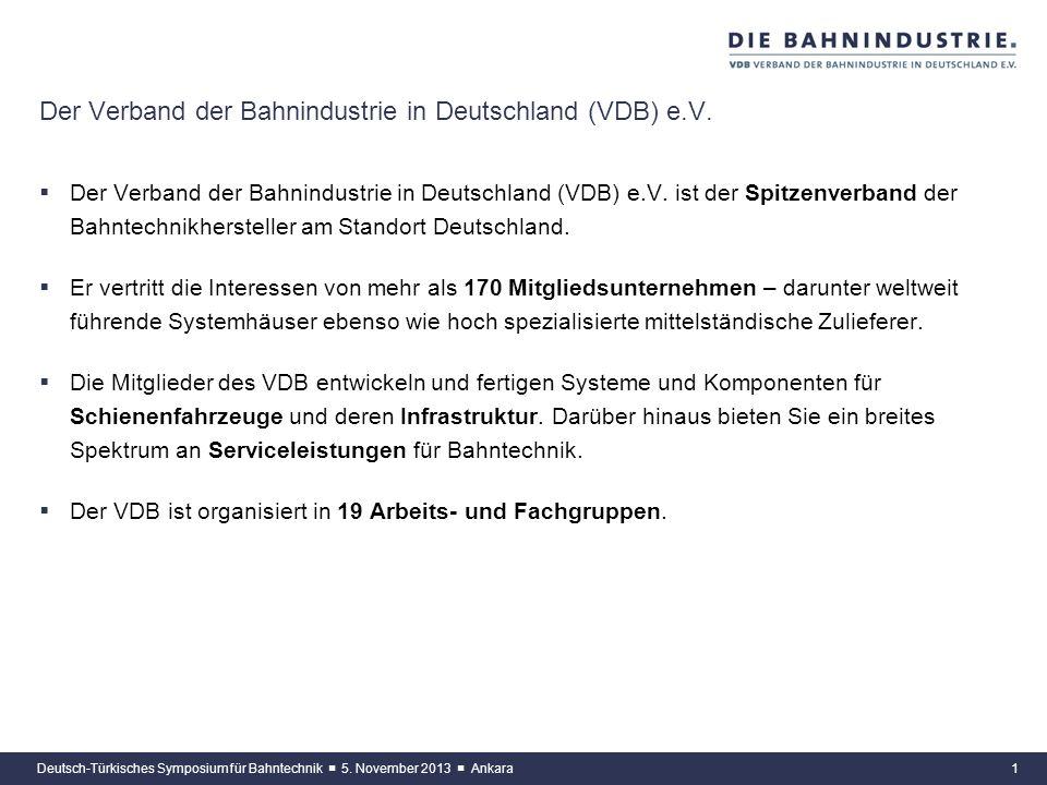 www.bahnindustrie.info Die Bahnindustrie in Deutschland stellt sich vor Maxim Weidner, Referent für Marktentwicklung Verband der Bahnindustrie in Deut