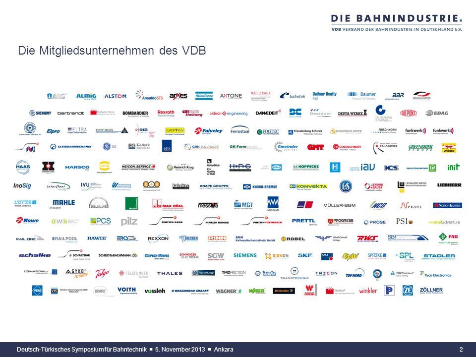 1 Der Verband der Bahnindustrie in Deutschland (VDB) e.V. Der Verband der Bahnindustrie in Deutschland (VDB) e.V. ist der Spitzenverband der Bahntechn
