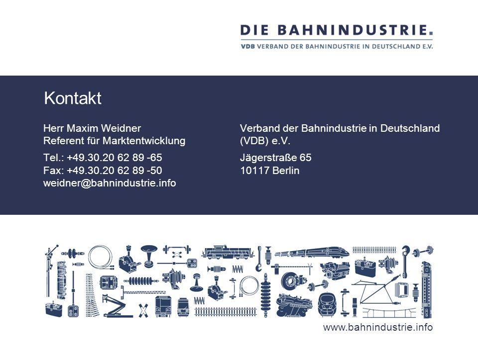 20Deutsch-Türkisches Symposium für Bahntechnik 5. November 2013 Ankara Die Bahnindustrie in Deutschland ist weltweiter Markt- und Technologieführer. J