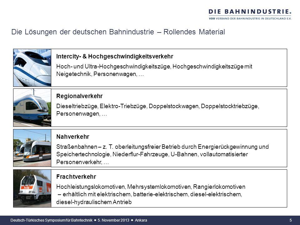 4Deutsch-Türkisches Symposium für Bahntechnik 5. November 2013 Ankara Die Lösungen der deutschen Bahnindustrie – Infrastruktur Fahrweg Feste Fahrbahns