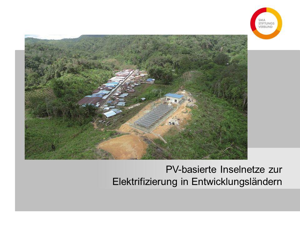 PV-basierte Inselnetze zur Elektrifizierung in Entwicklungsländern
