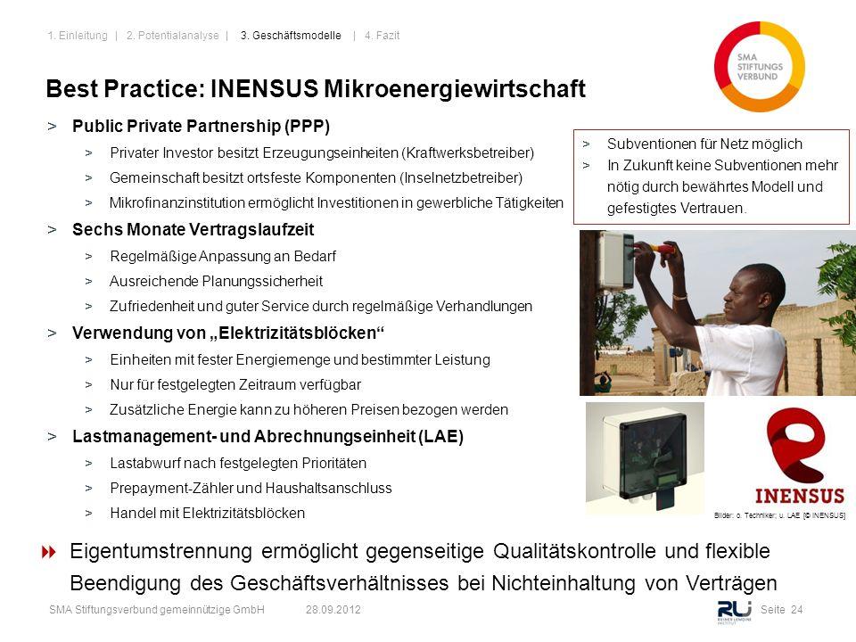 Seite 24SMA Stiftungsverbund gemeinnützige GmbH 28.09.2012 >Public Private Partnership (PPP) >Privater Investor besitzt Erzeugungseinheiten (Kraftwerk