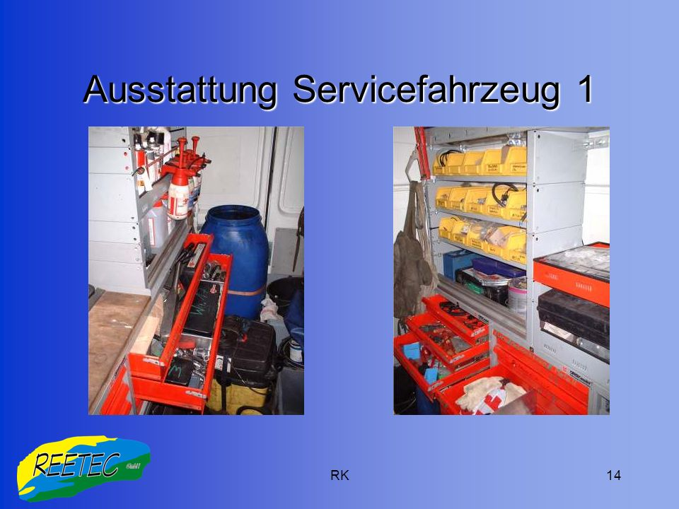 RK14 Ausstattung Servicefahrzeug 1