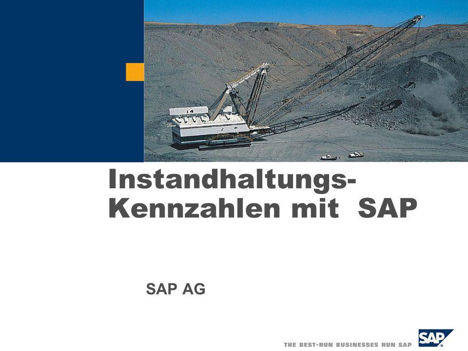 Instandhaltungs- Kennzahlen mit SAP SAP AG