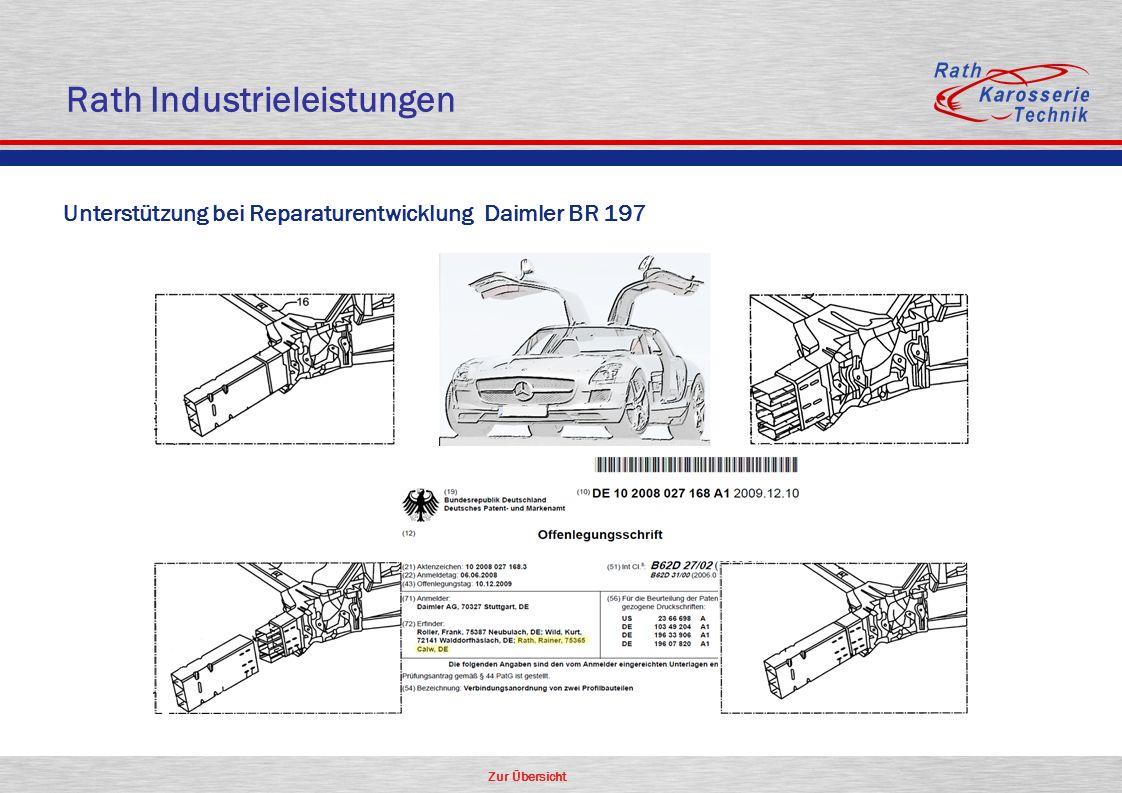 Zur Übersicht Unterstützung bei Reparaturentwicklung Daimler BR 197 Rath Industrieleistungen
