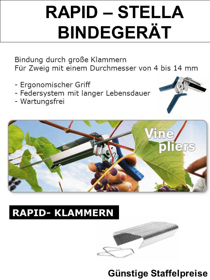 RAPID – STELLA BINDEGERÄT Bindung durch große Klammern Für Zweig mit einem Durchmesser von 4 bis 14 mm - Ergonomischer Griff - Federsystem mit langer
