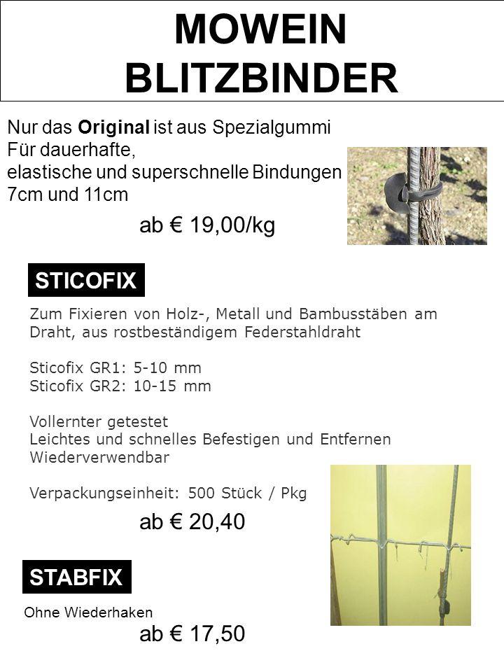 MOWEIN BLITZBINDER Nur das Original ist aus Spezialgummi Für dauerhafte, elastische und superschnelle Bindungen 7cm und 11cm Zum Fixieren von Holz-, M