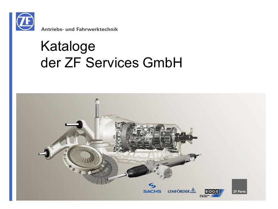 Kataloge der ZF Services GmbH