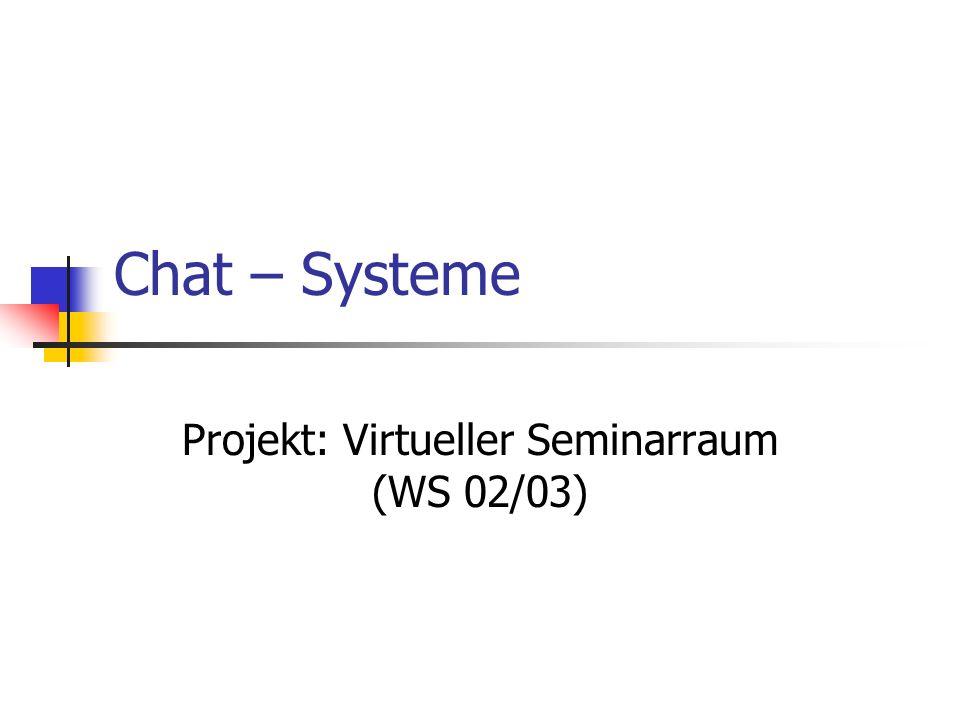 Chat – Systeme Projekt: Virtueller Seminarraum (WS 02/03)