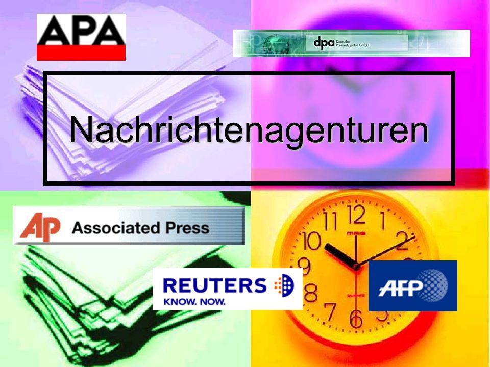 Austria Presse Agentur - APA Geschichte – Vorgänger: Österreichische Correspondenz: gegr.