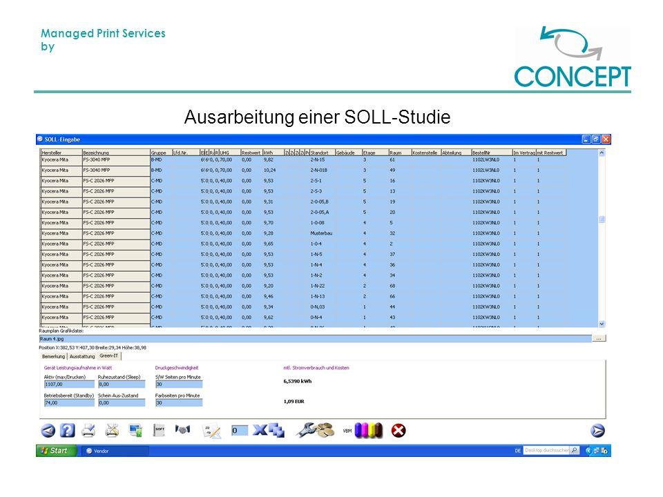 Managed Print Services by Ausarbeitung einer SOLL-Studie