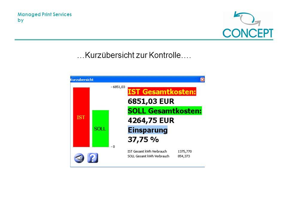 Managed Print Services by …Kurzübersicht zur Kontrolle….