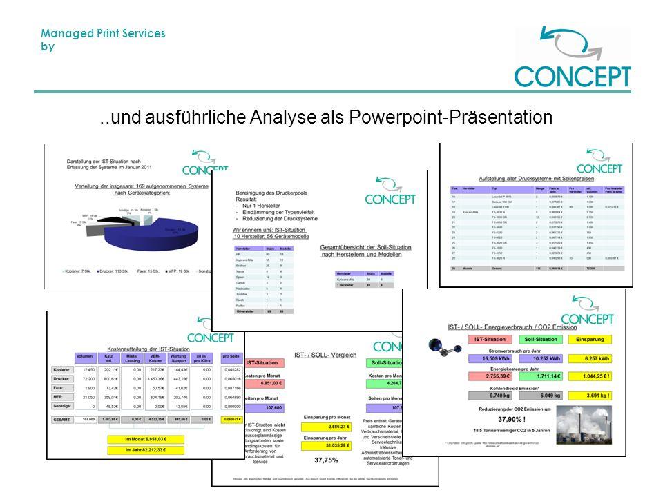 Managed Print Services by..und ausführliche Analyse als Powerpoint-Präsentation