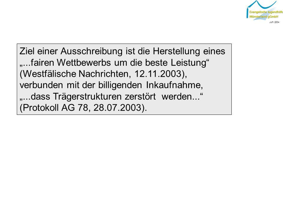 Aus der Praxis: Ausschreibung im Rahmen der Sozialpädagogischen Familienhilfe Informationsveranstaltung am 17.Juni 2004 in Hannover EREV & IGFH Juni 2