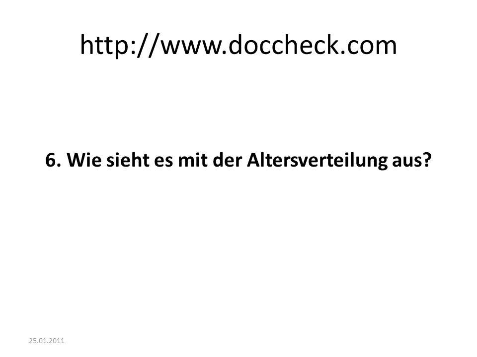http://www.doccheck.com 6. Wie sieht es mit der Altersverteilung aus?