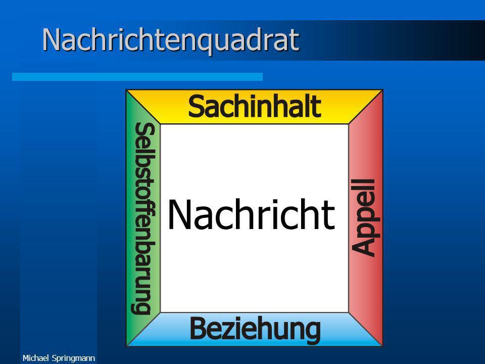 Michael Springmann Nachrichtenquadrat Nachricht