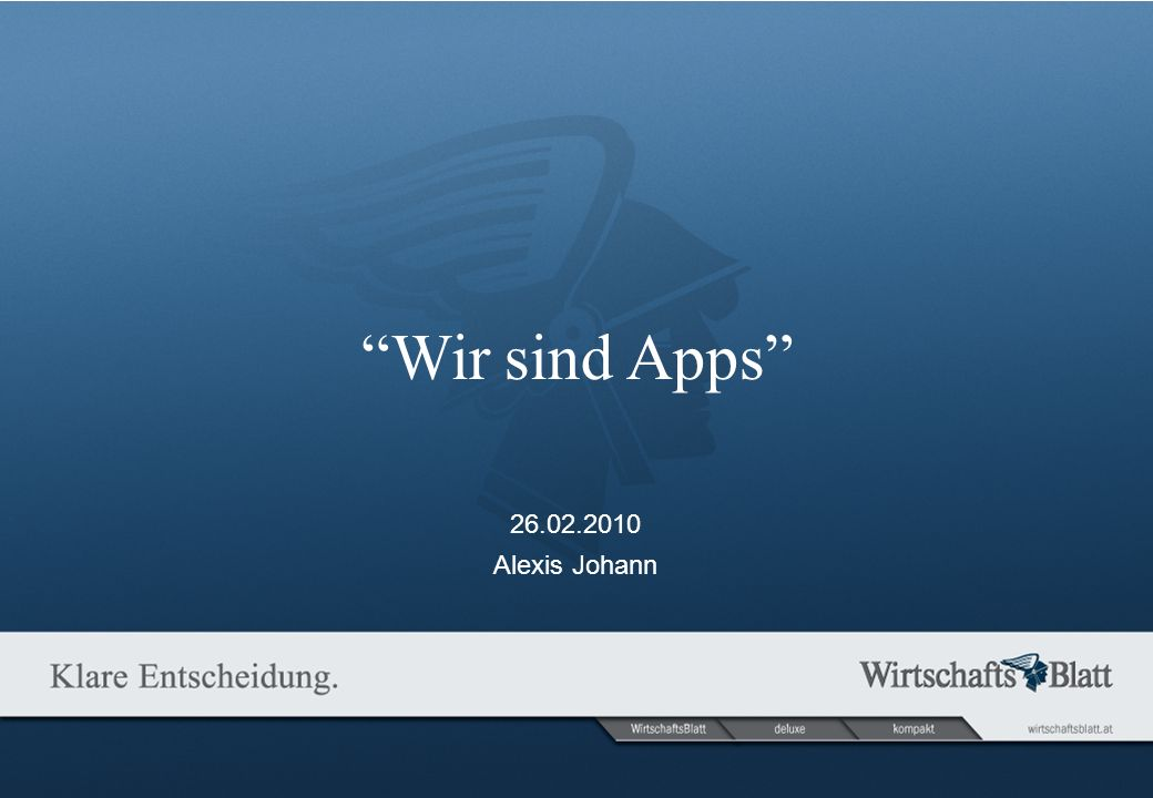 Seite Wir sind Apps And suddenly… … it all changed