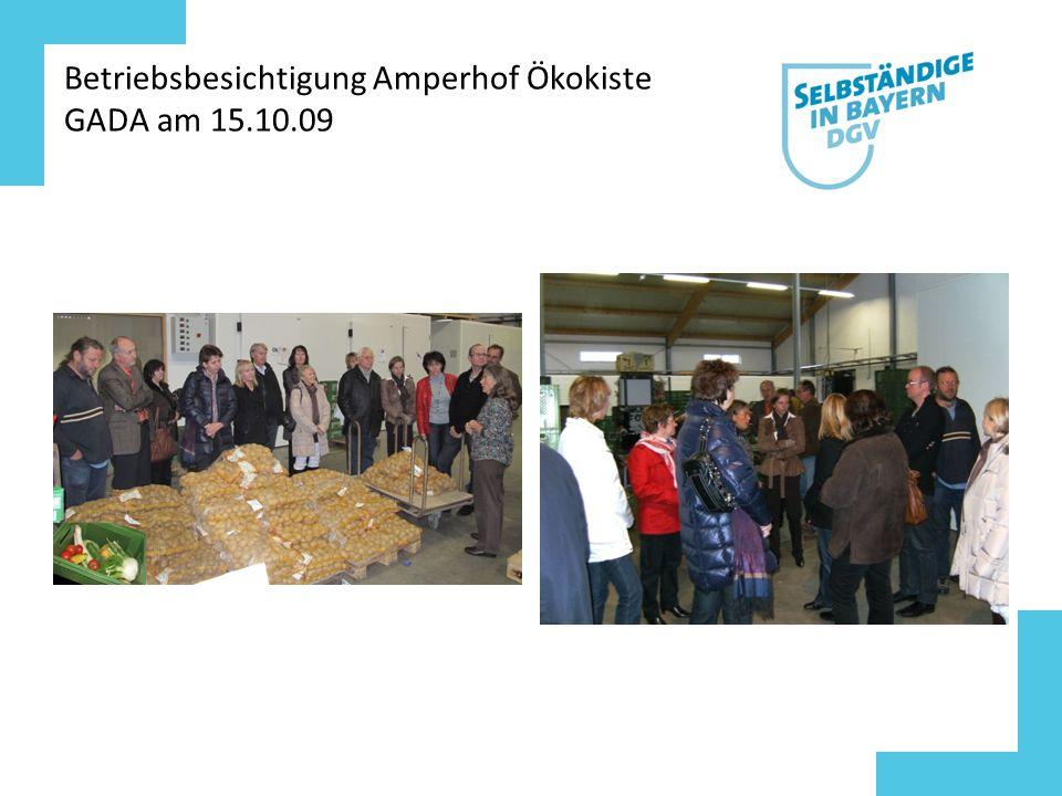 Betriebsbesichtigung Amperhof Ökokiste GADA am 15.10.09