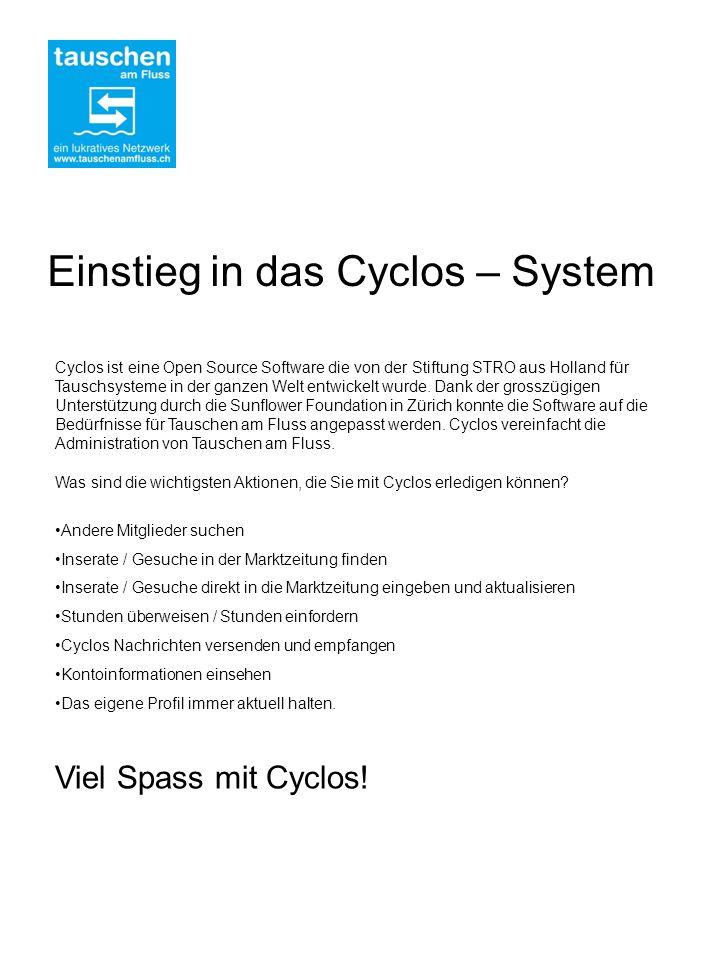 Cyclos ist eine Open Source Software die von der Stiftung STRO aus Holland für Tauschsysteme in der ganzen Welt entwickelt wurde.