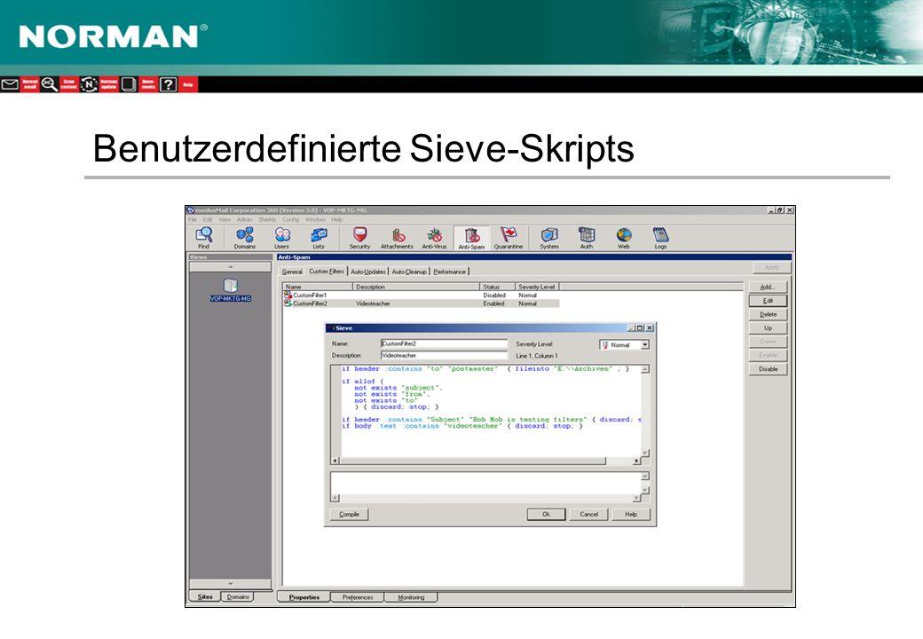 Benutzerdefinierte Sieve-Skripts