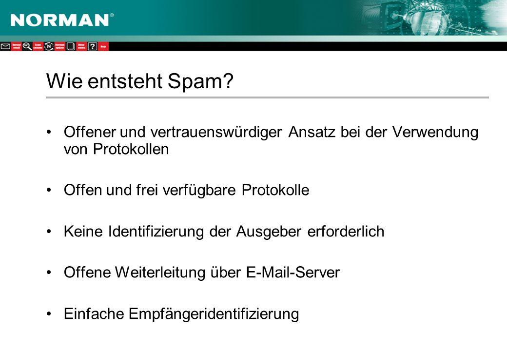 Wie entsteht Spam.