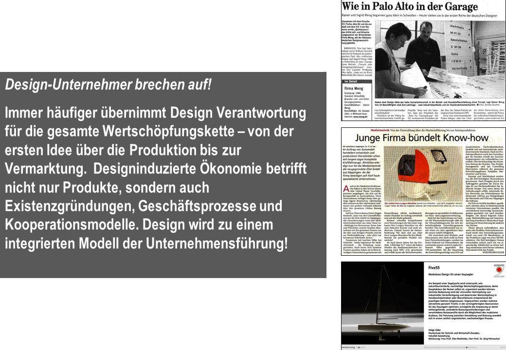 15 Design-Unternehmer brechen auf.