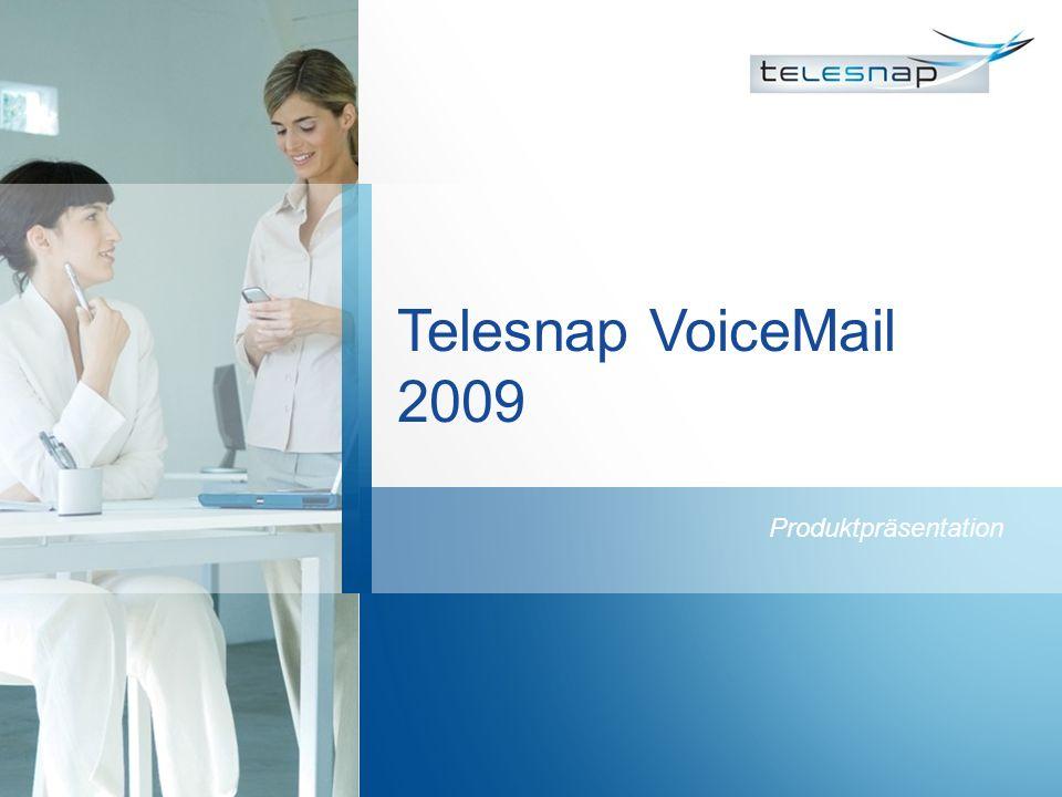 Telesnap VoiceMail 2009 Produktpräsentation