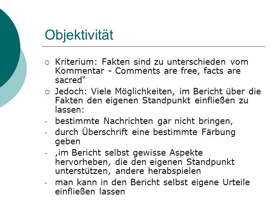 Wahrheit im Journalismus - Beispiel Sentenza 23366/04 della III Sezione civile della Cassazione, depositata il 15 dicembre 2004.