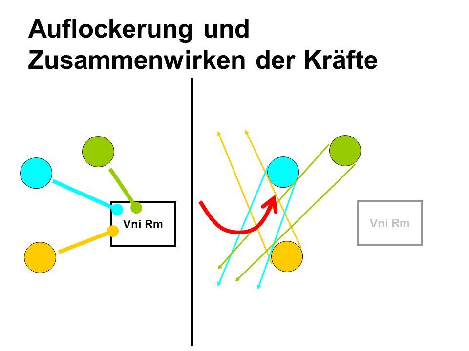 Auflockerung und Zusammenwirken der Kräfte Vni Rm