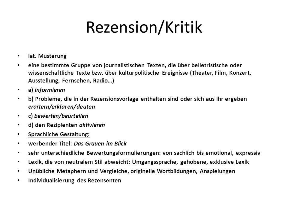 Rezension/Kritik lat.