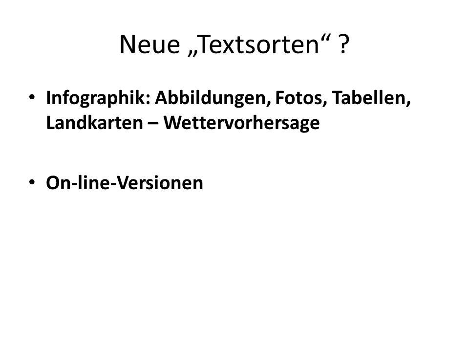 Neue Textsorten .