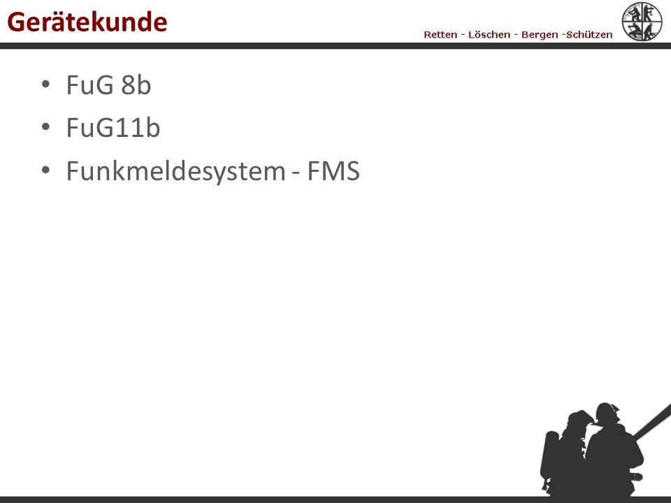 Gerätekunde FuG 8b FuG11b Funkmeldesystem - FMS