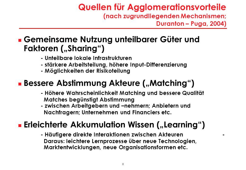 38 Charakteristika Intensive Tourismusregionen Liezen, Klagenfurt-Land, Spittal/Drau, Villach-Land, St.Johann/Pongau, Zell/See, Imst, Kitzbühel, Landeck, Reutte Werte 2001Bezirke RegionstypÖsterreich = 100 Einwohner Ø63.32778 Bevölkerungsdichte40,217 Erwerbstätige Ø23.19264 Wirtschaftsstruktur (Anteil ErwT %) Agrarsektor5,2126 Produktionssektor28,9105 Industrie16,388 davon technologieorientiert18,774 Dienstleistungssektor65,997 Handel, Verkehr, Nachrichten14,887 Tourismus15,5268 Unternehmensdienste4,550 Öffentliche, pers., soz.