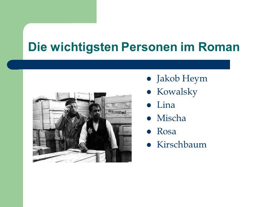 Die Lüge und das Leben im Ghetto Jakob Heym : der Lügner ein jüdischer Mann mittleren Alters, der im polnischen Ghetto am Bahnhof arbeitet.