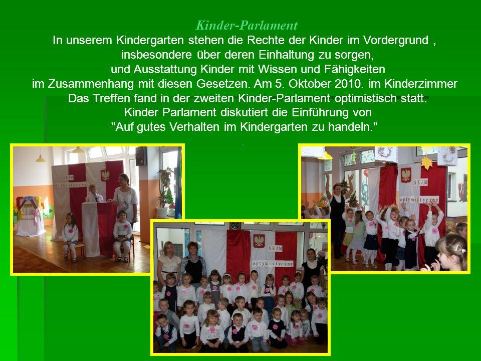 Kinder-Parlament In unserem Kindergarten stehen die Rechte der Kinder im Vordergrund, insbesondere über deren Einhaltung zu sorgen, und Ausstattung Ki