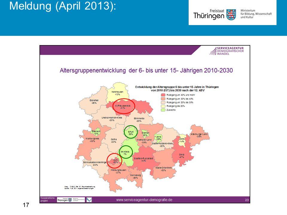 17 Meldung (April 2013):