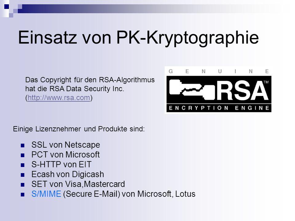 S/MIME … steht für Secure MIME S/MIME vertraut einer hierarchischen Authentisierungsstruktur Der Standard S/MIME baut auf digitalen Zertifikaten aufS/MIME Erweitert den bereits etablierten MIME Standard; zusätzliche Informationen werden als Teile einer Multipart-MIME-Nachricht integriert: - multipart/signed - multipart/encrypted Binäre Daten werden base64-kodiert übertragen