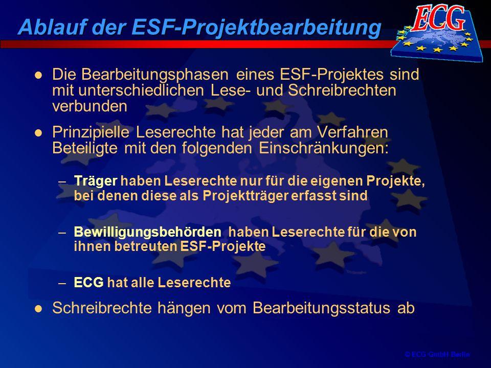© ECG GmbH Berlin Träger Bewilligungs- behörde ECG Eureka.