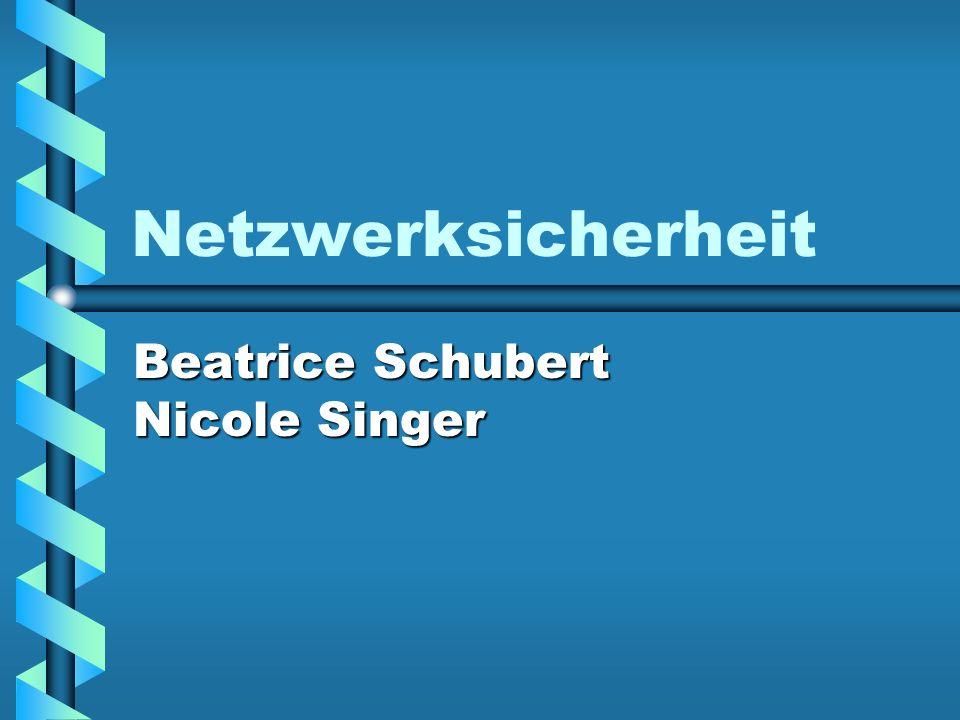 Netzwerksicherheit Beatrice Schubert Nicole Singer