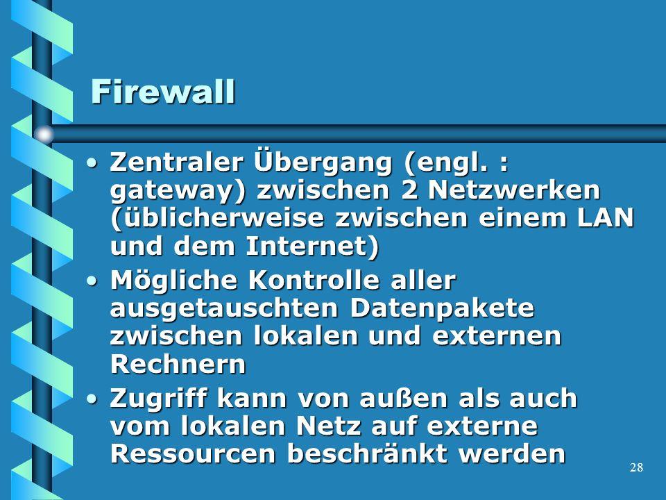 28 Firewall Zentraler Übergang (engl.