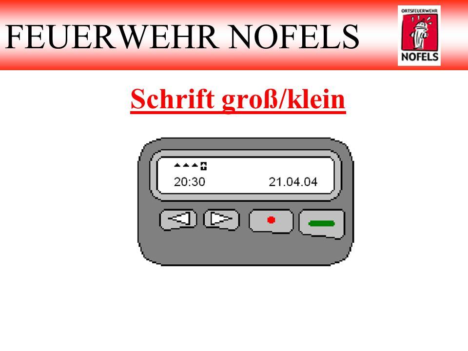 FEUERWEHR NOFELS Schrift groß/klein