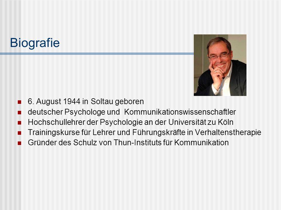 Biografie 6. August 1944 in Soltau geboren deutscher Psychologe und Kommunikationswissenschaftler Hochschullehrer der Psychologie an der Universität z
