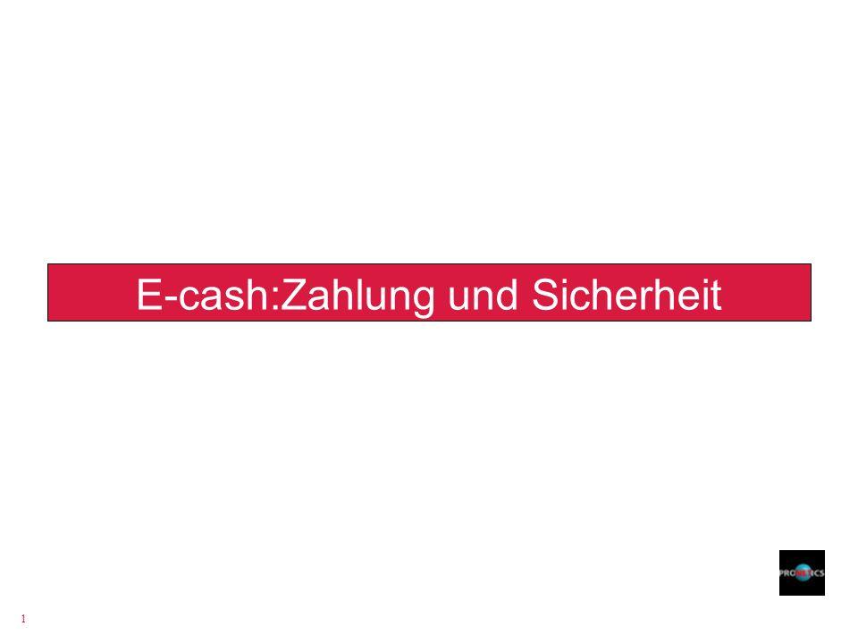 1 E-cash:Zahlung und Sicherheit