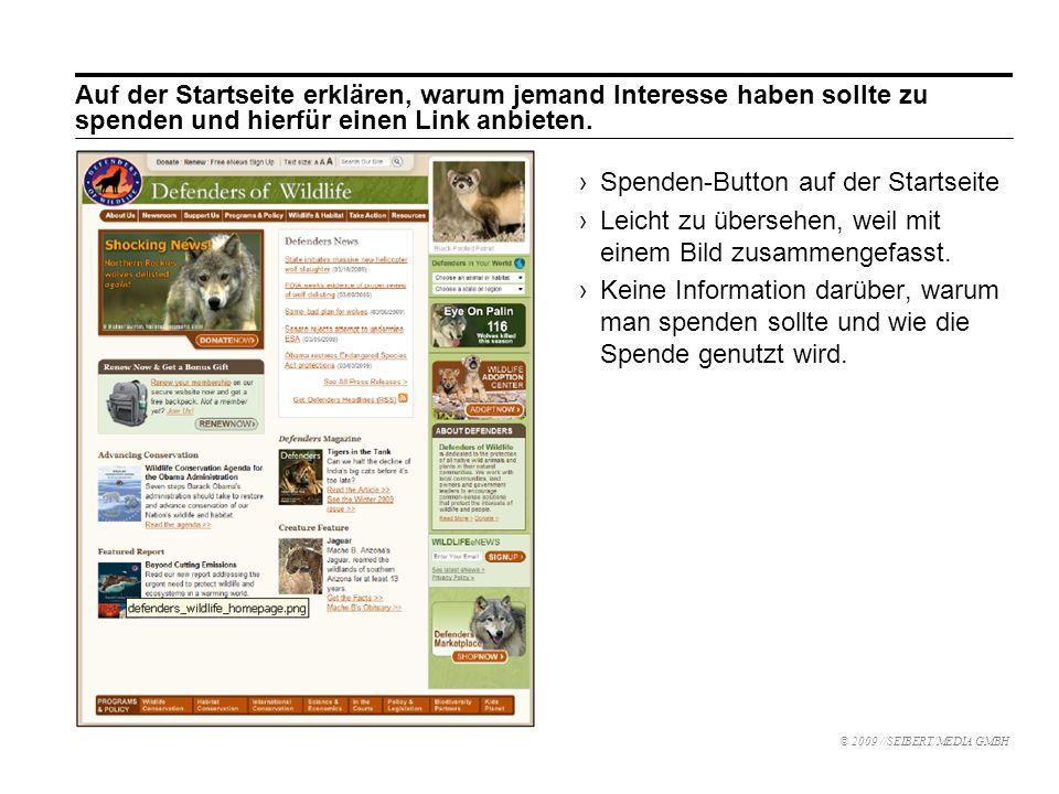Spenden-Button auf der Startseite Leicht zu übersehen, weil mit einem Bild zusammengefasst.