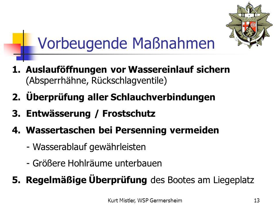 Kurt Mistler, WSP Germersheim12 Schwachpunkt Schlauchverbindung