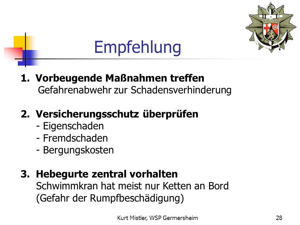 Kurt Mistler, WSP Germersheim27 Bergung
