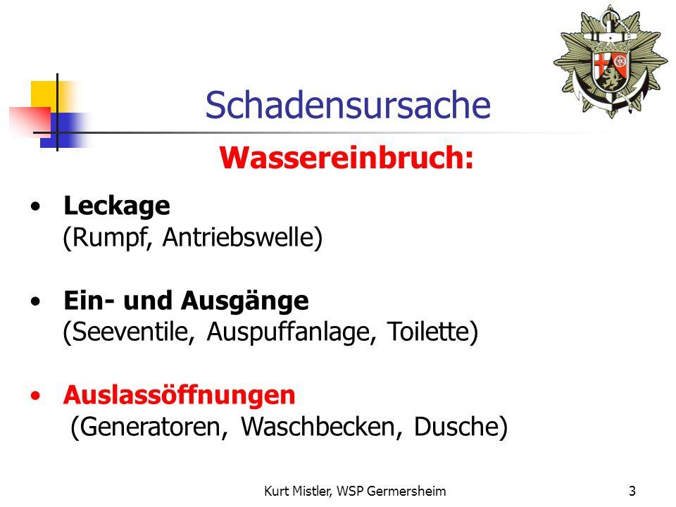 Kurt Mistler, WSP Germersheim2 Ursachen und Folgen von Sinkschäden